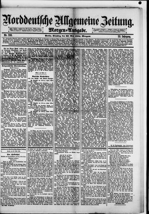 Norddeutsche allgemeine Zeitung on May 20, 1884