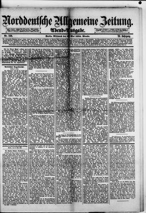 Norddeutsche allgemeine Zeitung vom 21.05.1884