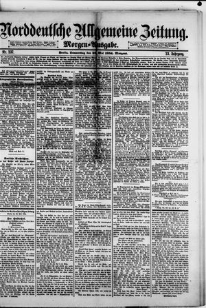 Norddeutsche allgemeine Zeitung vom 22.05.1884