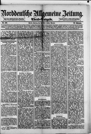 Norddeutsche allgemeine Zeitung vom 23.05.1884