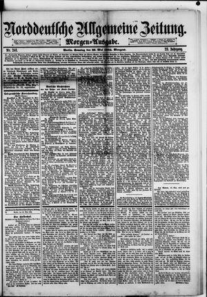Norddeutsche allgemeine Zeitung vom 25.05.1884