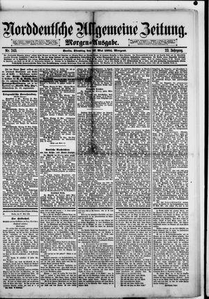 Norddeutsche allgemeine Zeitung vom 27.05.1884