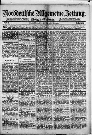 Norddeutsche allgemeine Zeitung vom 28.05.1884
