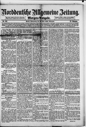 Norddeutsche allgemeine Zeitung vom 29.05.1884