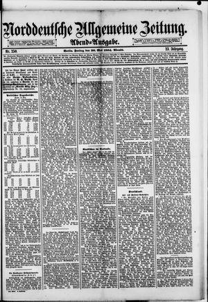 Norddeutsche allgemeine Zeitung vom 30.05.1884