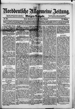 Norddeutsche allgemeine Zeitung vom 31.05.1884