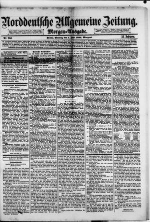 Norddeutsche allgemeine Zeitung vom 01.06.1884