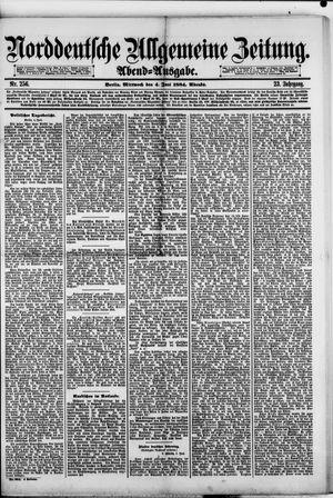 Norddeutsche allgemeine Zeitung vom 04.06.1884