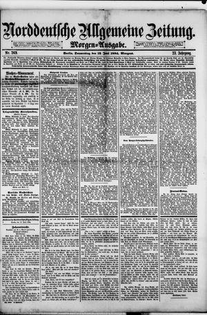 Norddeutsche allgemeine Zeitung vom 12.06.1884