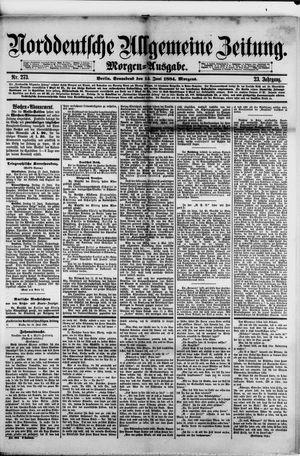 Norddeutsche allgemeine Zeitung vom 14.06.1884