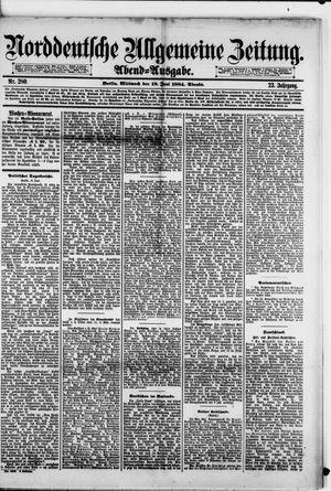 Norddeutsche allgemeine Zeitung vom 18.06.1884