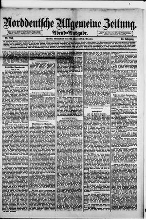 Norddeutsche allgemeine Zeitung vom 21.06.1884
