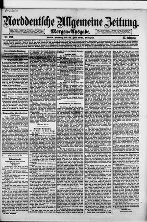 Norddeutsche allgemeine Zeitung vom 24.06.1884