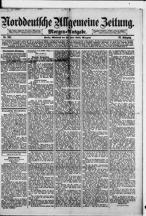 Norddeutsche allgemeine Zeitung vom 25.06.1884