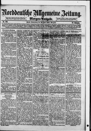 Norddeutsche allgemeine Zeitung vom 26.06.1884