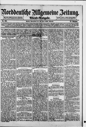Norddeutsche allgemeine Zeitung vom 28.06.1884