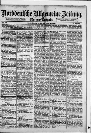 Norddeutsche allgemeine Zeitung vom 29.06.1884