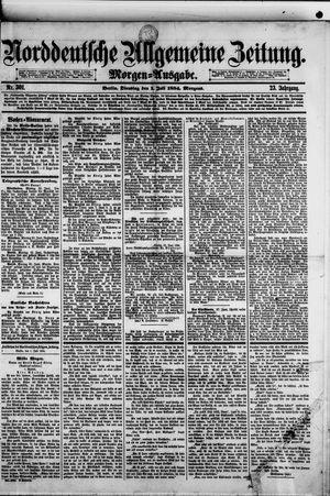 Norddeutsche allgemeine Zeitung vom 01.07.1884