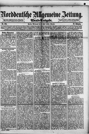 Norddeutsche allgemeine Zeitung on Jul 2, 1884