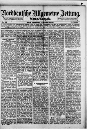 Norddeutsche allgemeine Zeitung on Jul 5, 1884