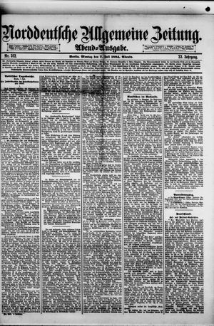 Norddeutsche allgemeine Zeitung vom 07.07.1884
