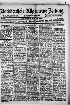 Norddeutsche allgemeine Zeitung vom 09.07.1884
