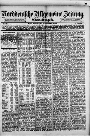 Norddeutsche allgemeine Zeitung vom 10.07.1884