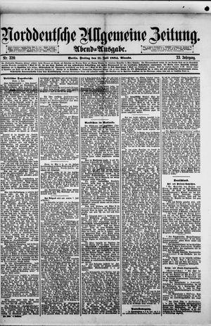 Norddeutsche allgemeine Zeitung vom 11.07.1884