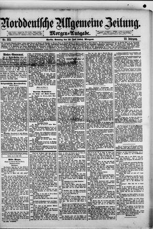 Norddeutsche allgemeine Zeitung vom 13.07.1884