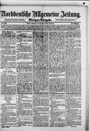 Norddeutsche allgemeine Zeitung vom 15.07.1884