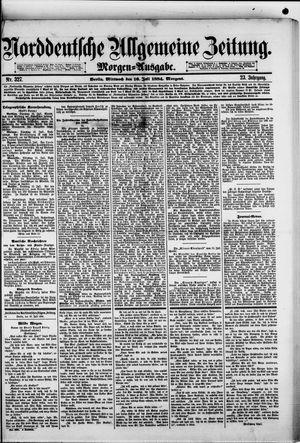 Norddeutsche allgemeine Zeitung vom 16.07.1884