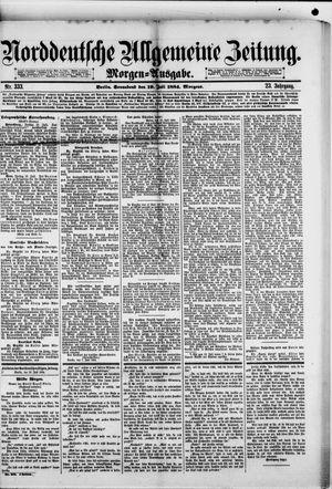 Norddeutsche allgemeine Zeitung vom 19.07.1884