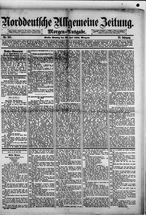 Norddeutsche allgemeine Zeitung vom 20.07.1884