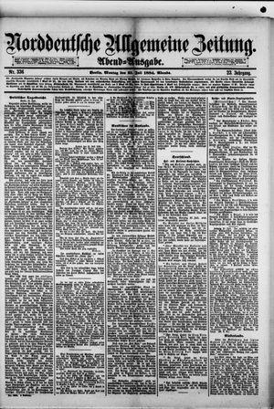 Norddeutsche allgemeine Zeitung vom 21.07.1884
