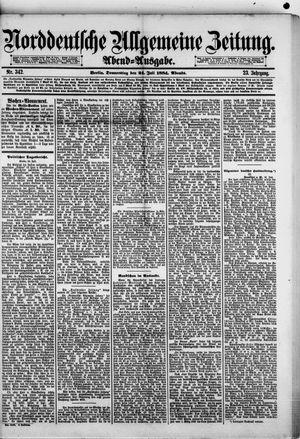 Norddeutsche allgemeine Zeitung vom 24.07.1884