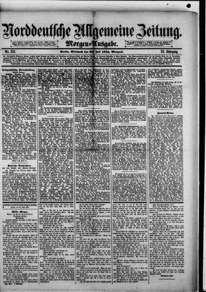 Norddeutsche allgemeine Zeitung vom 30.07.1884