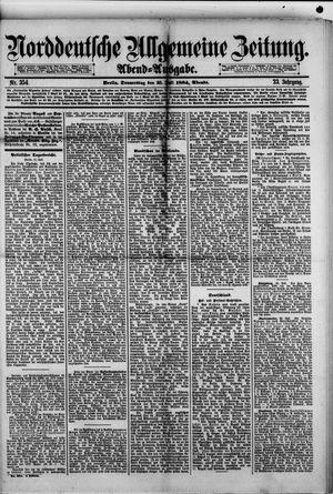 Norddeutsche allgemeine Zeitung vom 31.07.1884