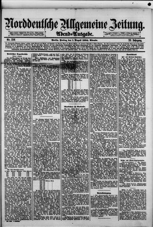 Norddeutsche allgemeine Zeitung vom 01.08.1884