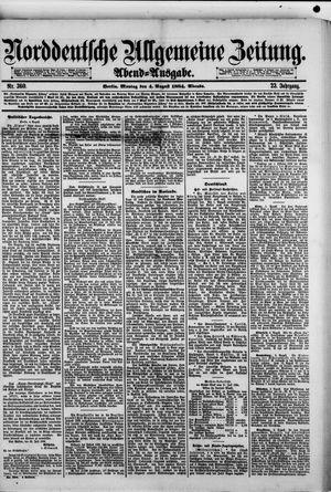Norddeutsche allgemeine Zeitung vom 04.08.1884