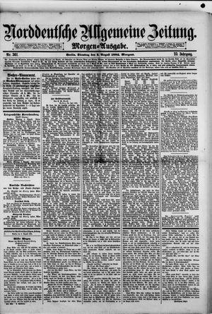 Norddeutsche allgemeine Zeitung vom 05.08.1884