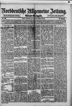 Norddeutsche allgemeine Zeitung vom 06.08.1884