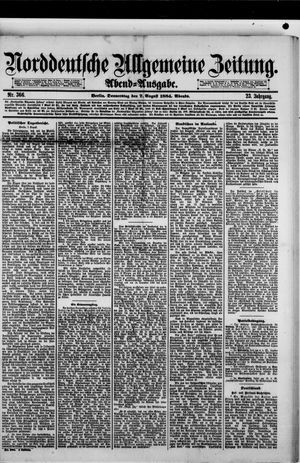 Norddeutsche allgemeine Zeitung vom 07.08.1884