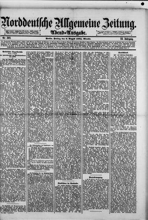 Norddeutsche allgemeine Zeitung vom 08.08.1884
