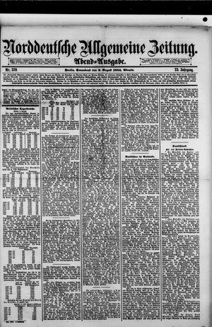 Norddeutsche allgemeine Zeitung vom 09.08.1884