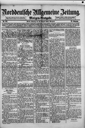 Norddeutsche allgemeine Zeitung vom 10.08.1884