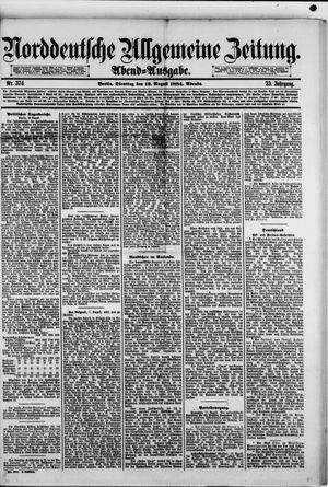 Norddeutsche allgemeine Zeitung vom 12.08.1884
