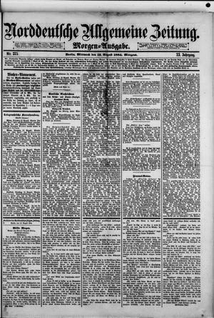 Norddeutsche allgemeine Zeitung vom 13.08.1884