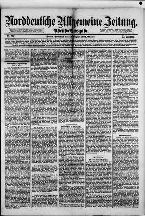 Norddeutsche allgemeine Zeitung vom 16.08.1884
