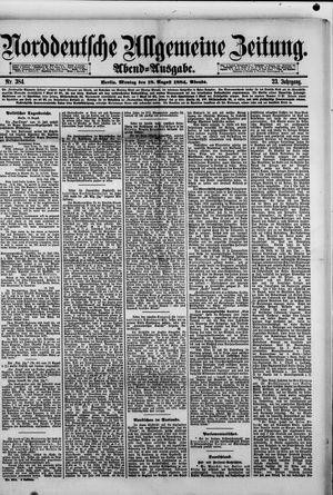 Norddeutsche allgemeine Zeitung vom 18.08.1884
