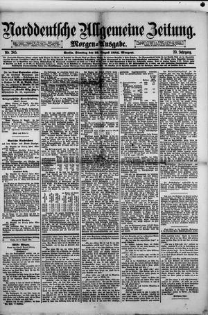 Norddeutsche allgemeine Zeitung vom 19.08.1884